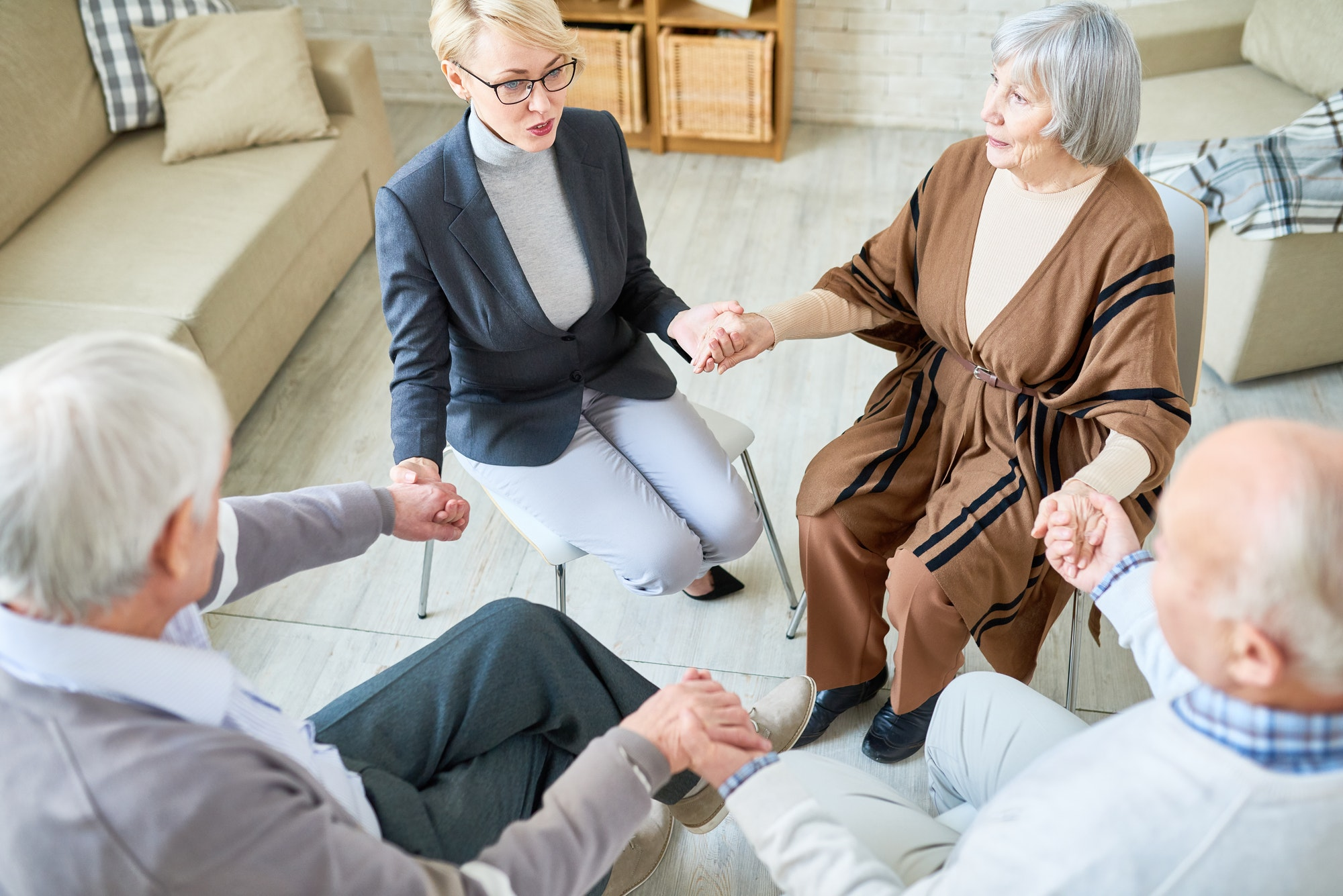 Support Circle in Group Therapy Session